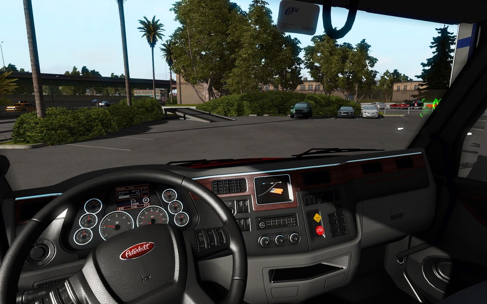 Peterbilt interior from ATS | American Truck Simulator mods