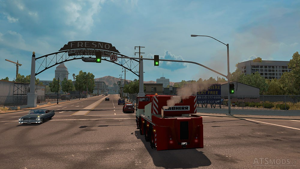 AI Traffic Cranetruck for ATS by Solaris36   American Truck