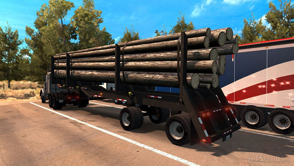 Log Trailer by Scs | American Truck Simulator mods