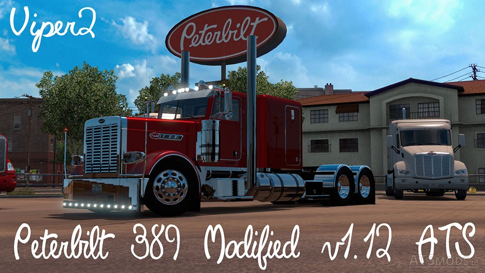 Peterbilt 389 Modified V 1 12 For Ats on red grill lights