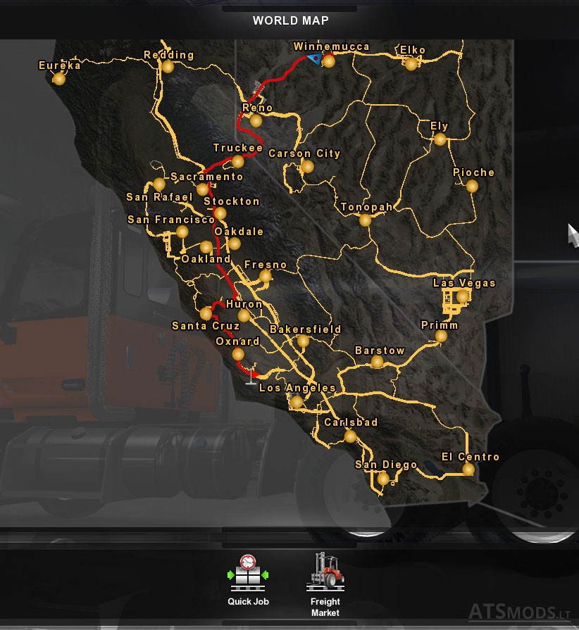 Satellite Image Background For The Map American Truck Simulator Mods - World map 2016 satellite