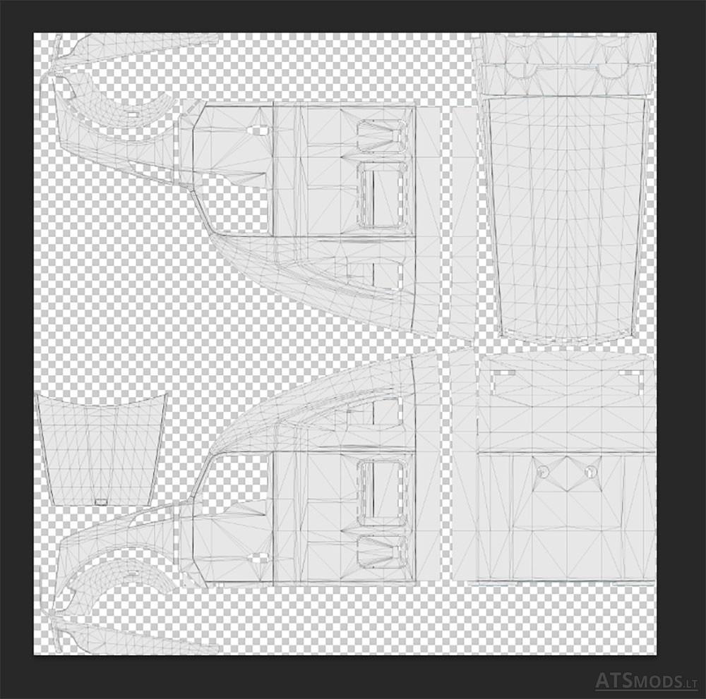 template for scs trucks american truck simulator mods
