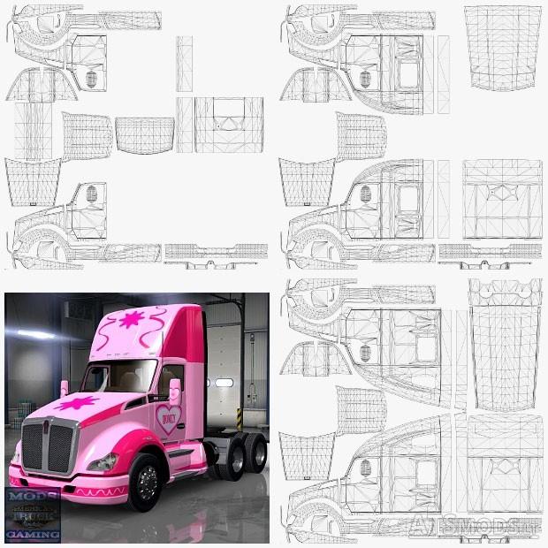 kenworth t680 templates american truck simulator mods