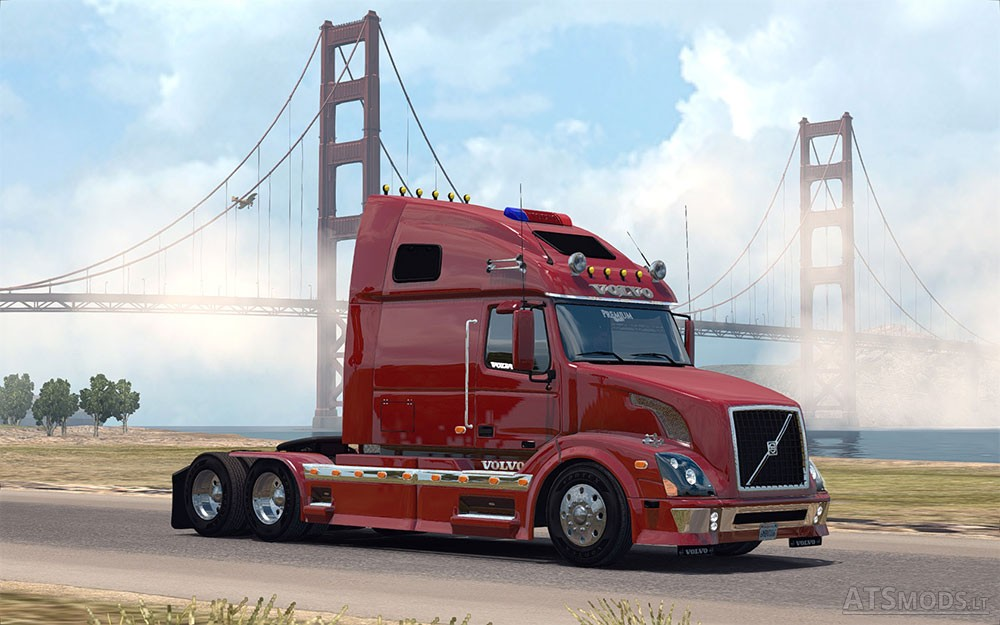 Custom Decals For Trucks >> Volvo VNL 670 for ATS v 1.2 by Aradeth | American Truck Simulator mods