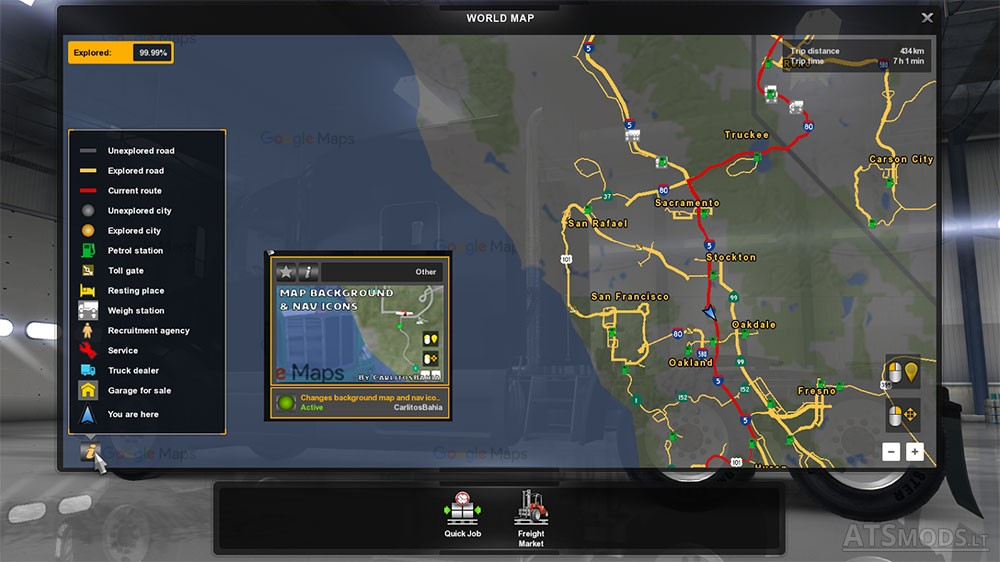 Background map and nav icons (map, gps and route advisor) | American