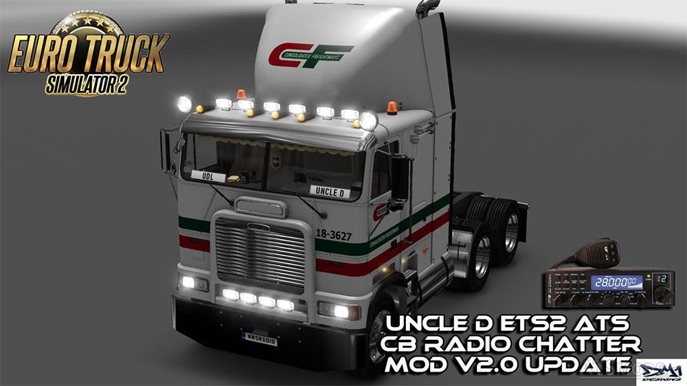 UNCLE D ETS2 ATS CB RADIO CHATTER MOD V2 0 | American Truck