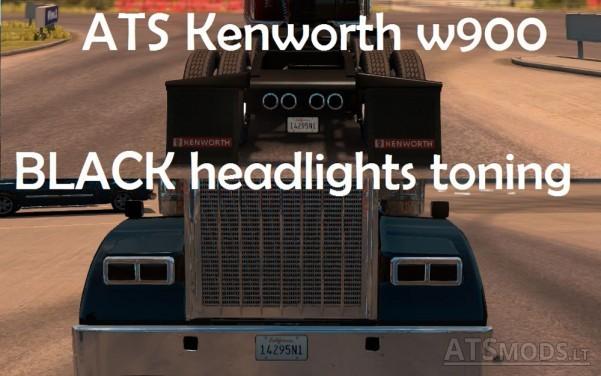 Kenworth-W900-Black-Headlights-Toning-1