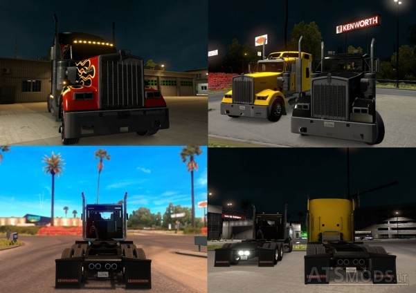 Kenworth-W900-Black-Headlights-Toning-2