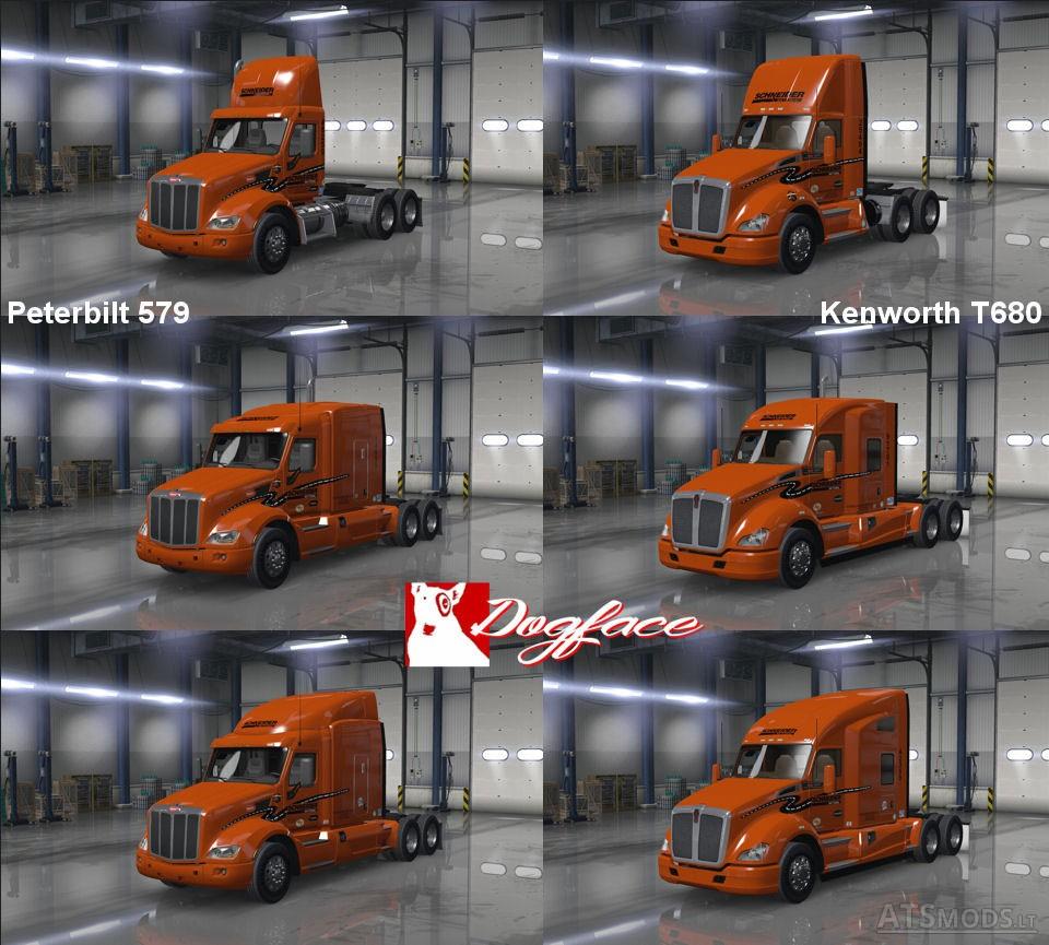 Schneider National Skin v 2 0 (T680 + 579) | American Truck