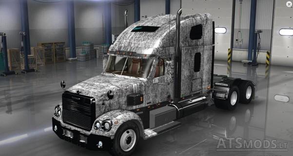 Freightliner-Coronado-Grunge-Metal-Skin