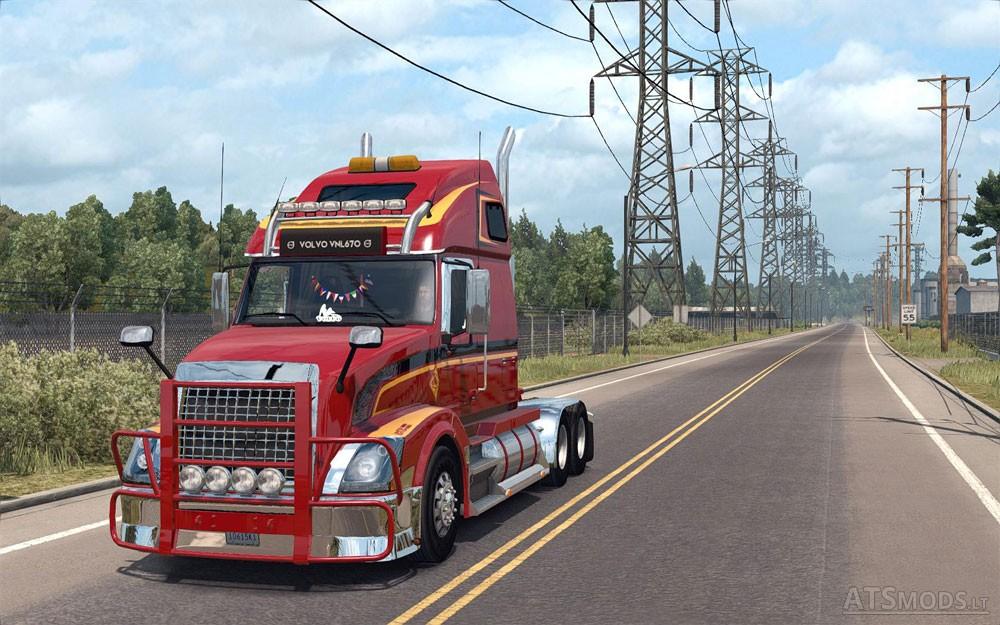 Volvo vnl 670 for ats v 1 4 1 by aradeth american truck simulator mods - Volvo vnl wallpaper ...