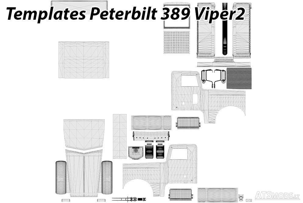 Peterbilt 389 Viper2 Templates | American Truck Simulator mods