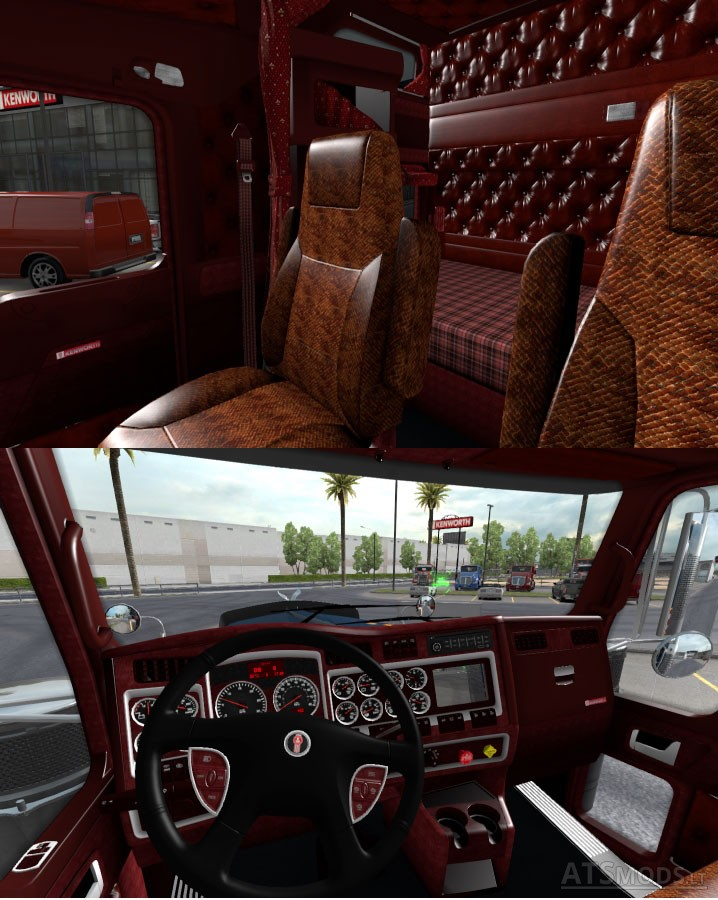 Kenworth W900 Interior V 1 1 American Truck Simulator Mods
