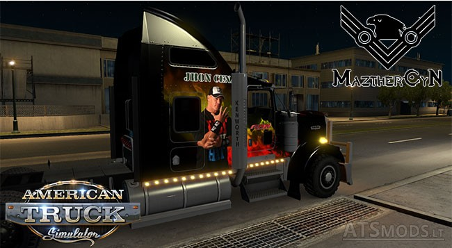 Kenworth W900 WWE Skin   American Truck Simulator mods