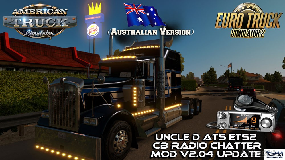 Uncle D ETS2 ATS CB Radio Chatter Mod v 2 04 (Australian