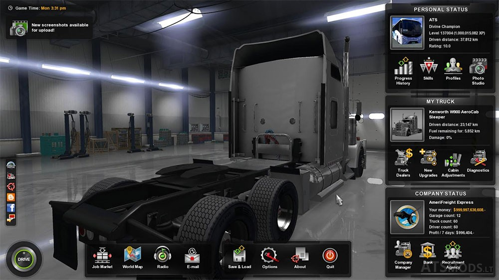 100 Save Game American Truck Simulator Mods