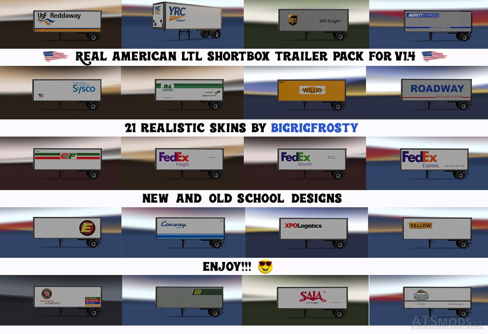 Real American Ltl Shortbox Trailer Pack American Truck