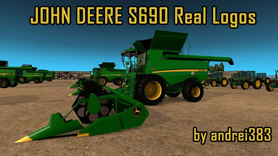 John Deere S690 Real Logos | American Truck Simulator mods