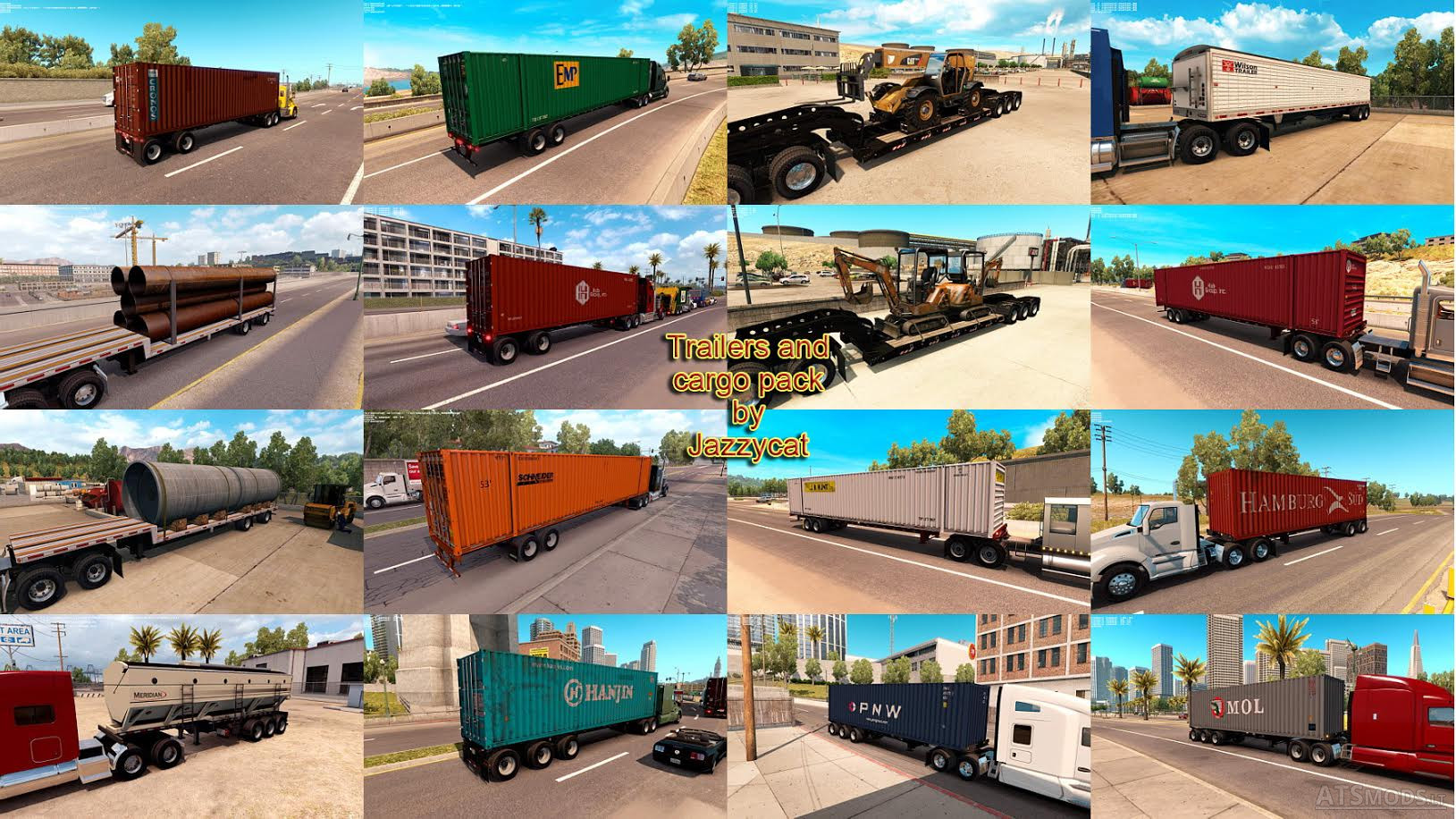 Trailers and Cargo Pack by Jazzycat v 1 3 1 | American Truck