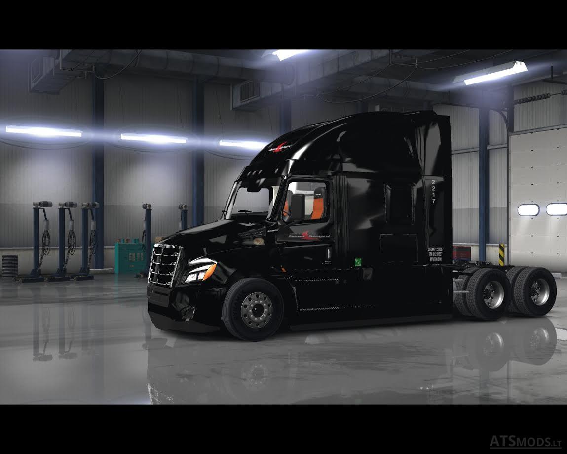 2018 Cascadia Stevens Transport Skin American Truck Simulator Mods