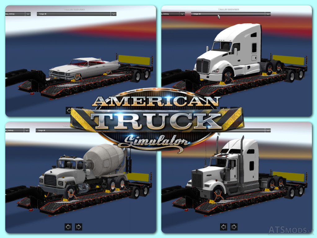 trailer pack v3   American Truck Simulator mods