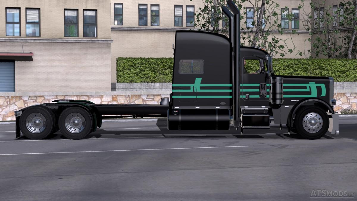 Peterbilt Mint Green Black Skin American Truck Simulator Mods