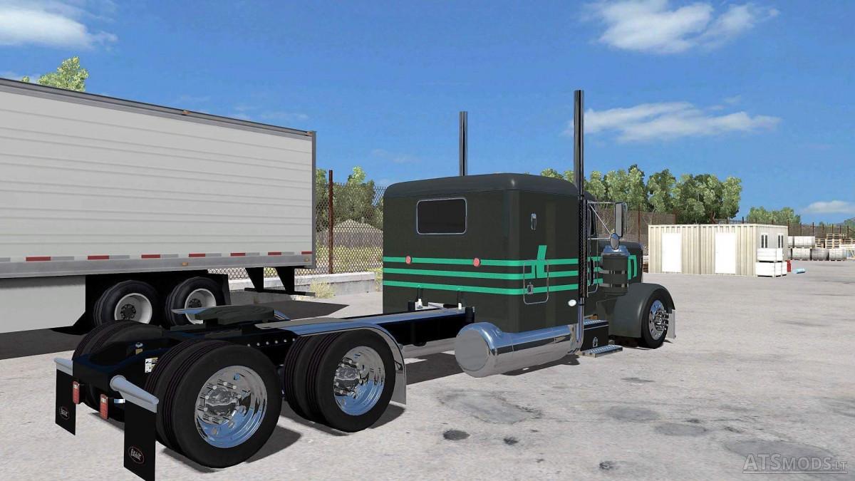 Peterbilt Mint Green Dark Gray Skin American Truck Simulator Mods