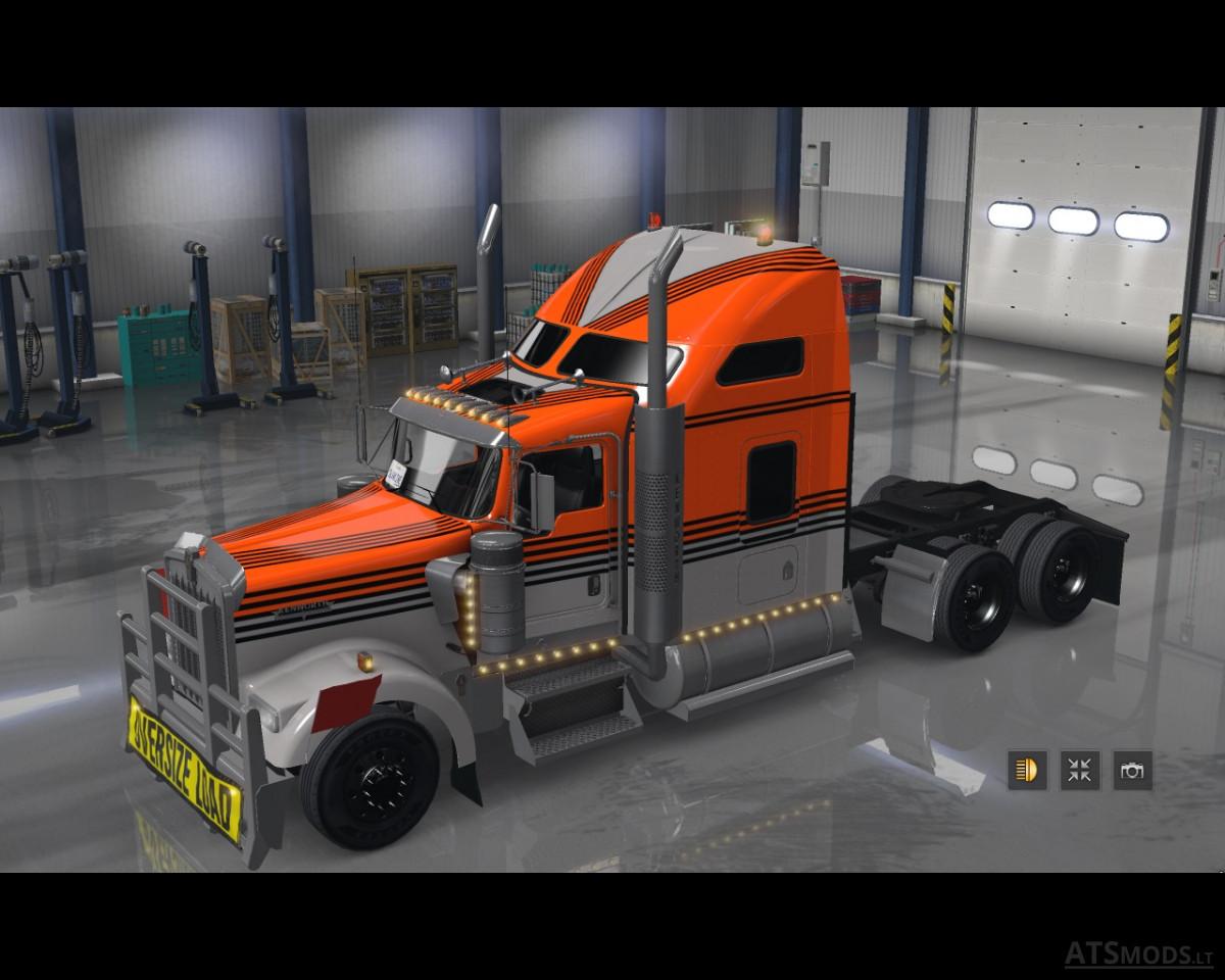 Kenworth W Knights Truck Ats in addition Big Belly Custom Kenworth W L X also C C E F E A D B together with Kenworth W Lux Interior V For Truck also Maxresdefault. on kenworth w900 studio sleeper