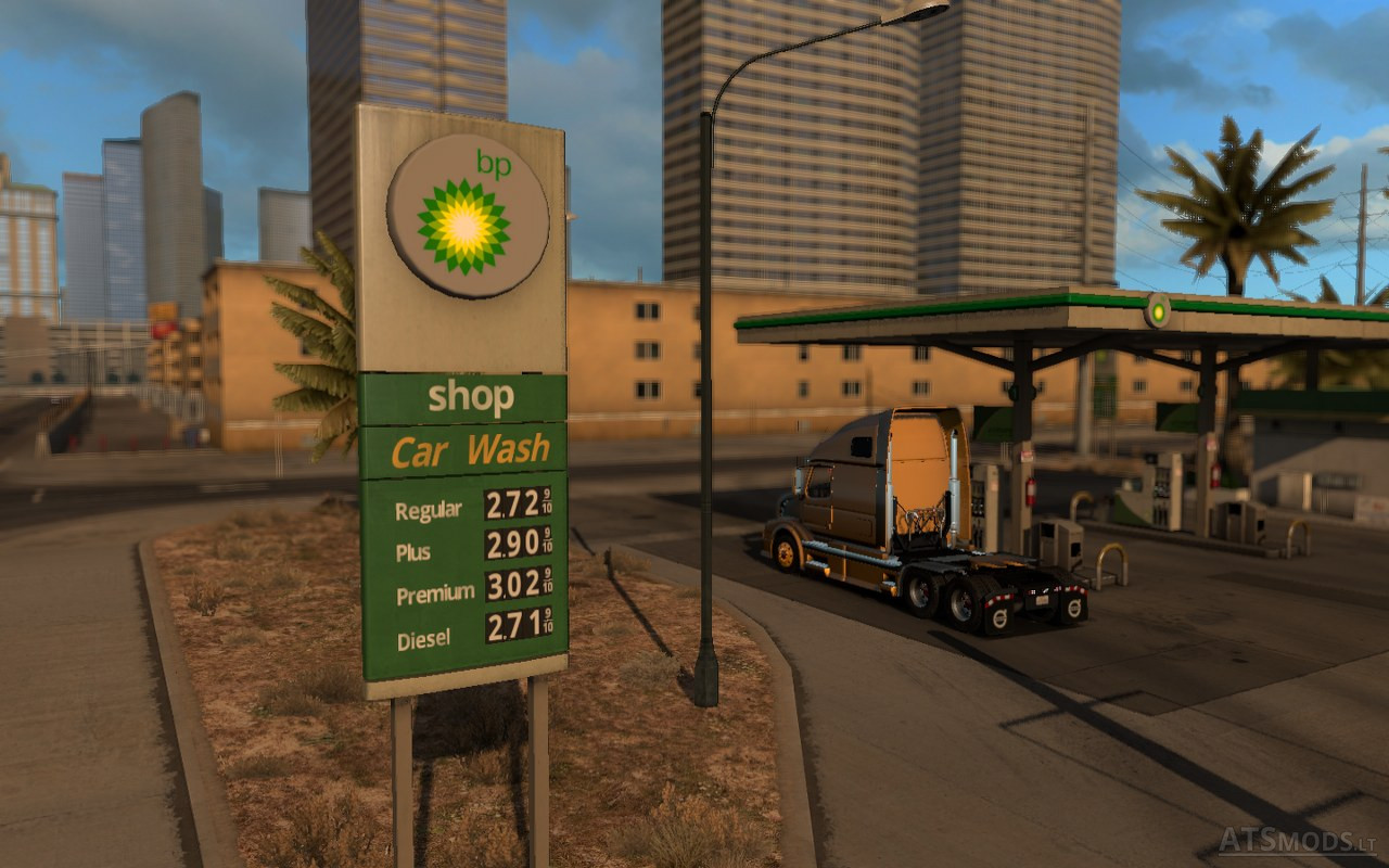 Find A Gas Station >> real gas station | American Truck Simulator mods