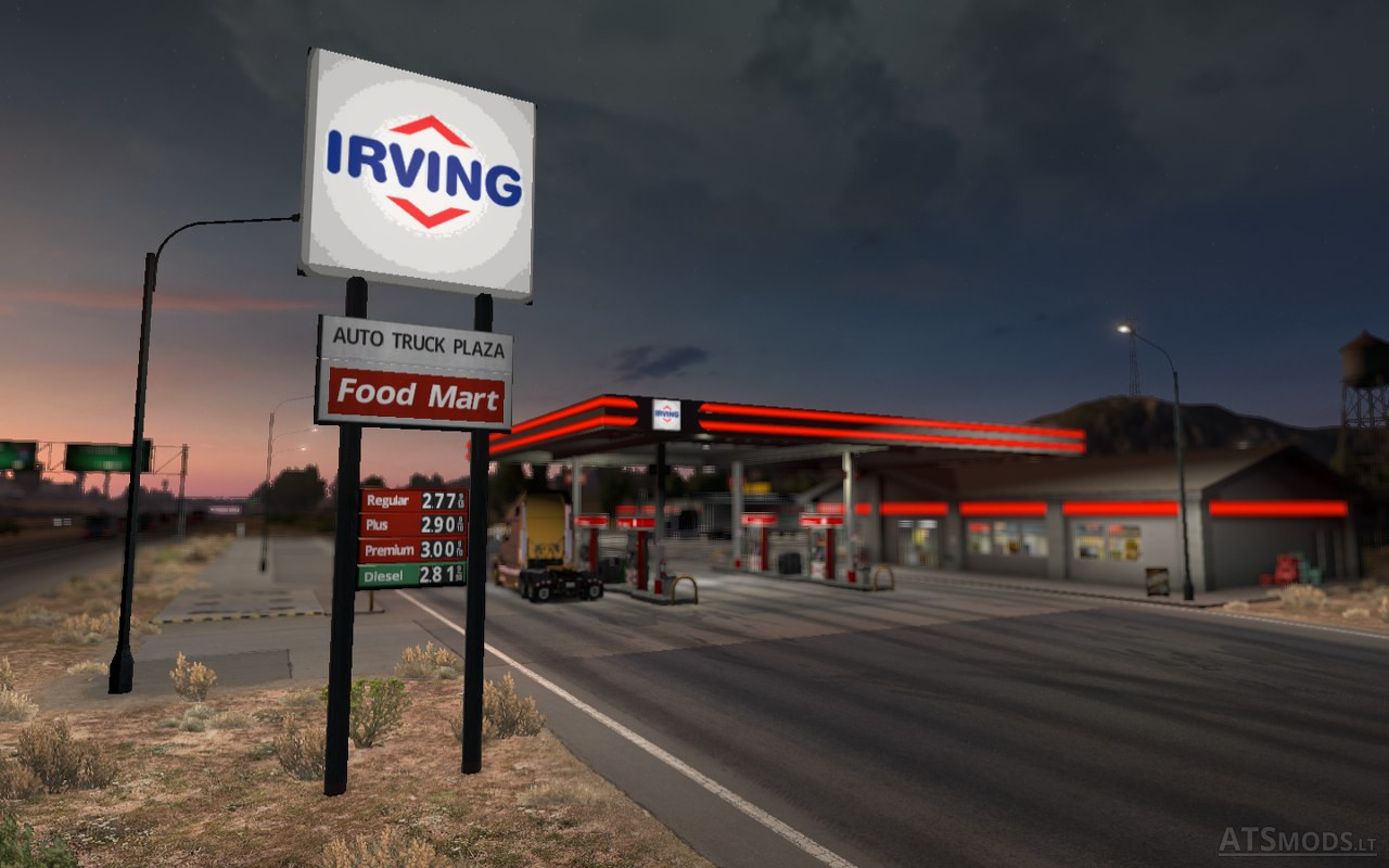 Gulf Gas Station >> real gas station | American Truck Simulator mods