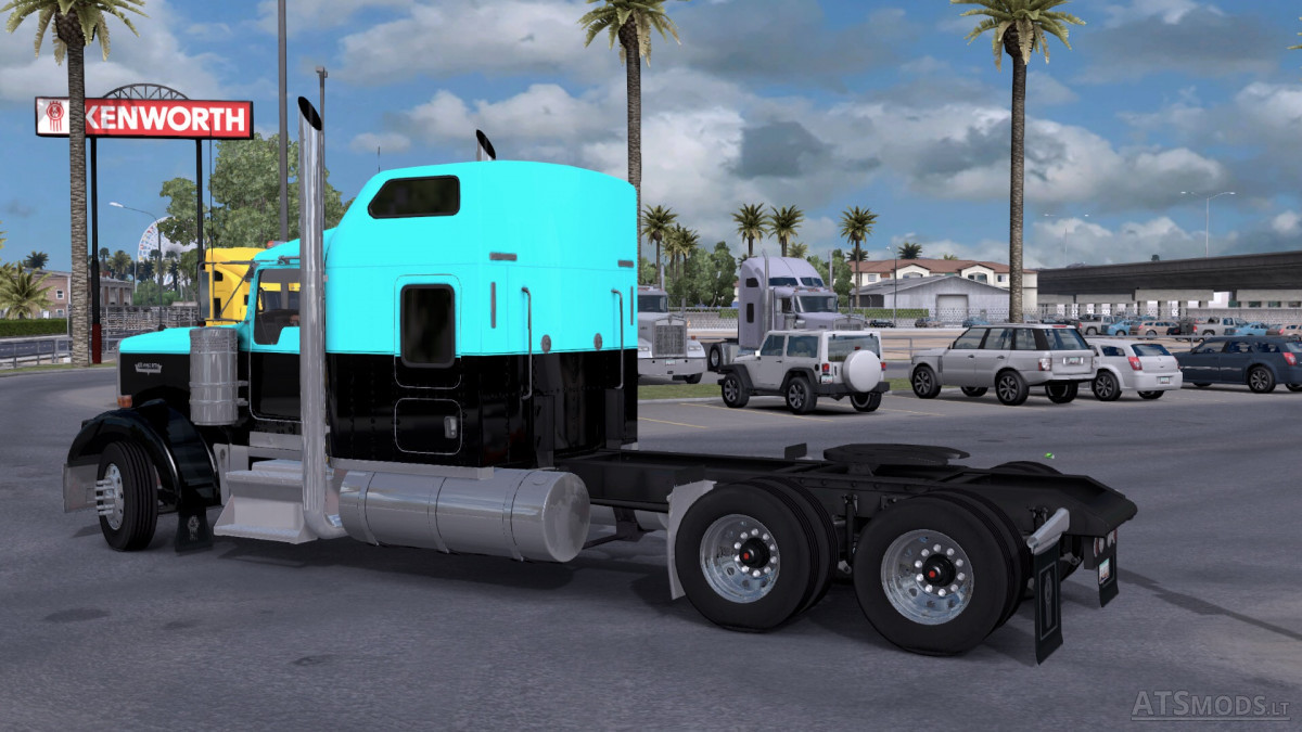 Kenworth W900 Light Blue Black | American Truck Simulator mods