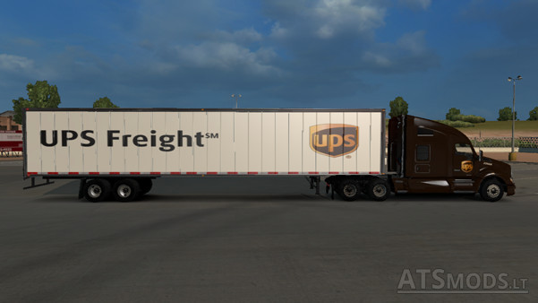 Skin UPS for T680 and loads | American Truck Simulator mods