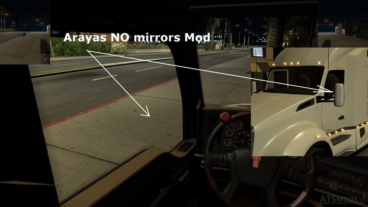 Arayas NO Mirrors [ATS2 1 29 xx]   American Truck Simulator mods