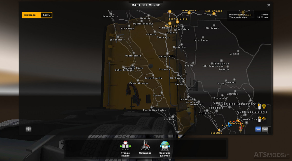 Cananea Mexico Map.Mexico Map For Ats 1 29 American Truck Simulator Mods