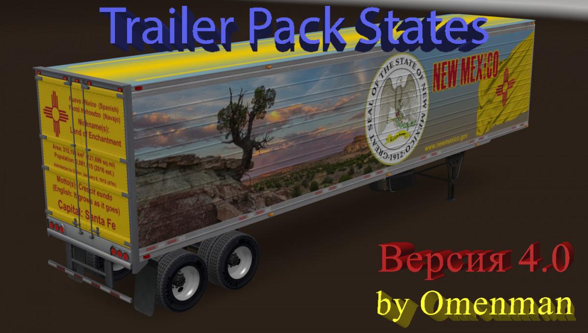 Trailer Pack States 4 0   American Truck Simulator mods