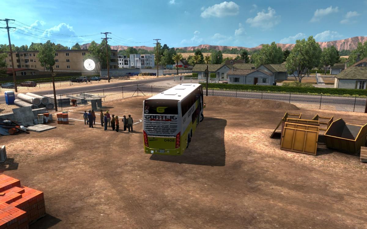 Passenger mod v1 for ATS | American Truck Simulator mods