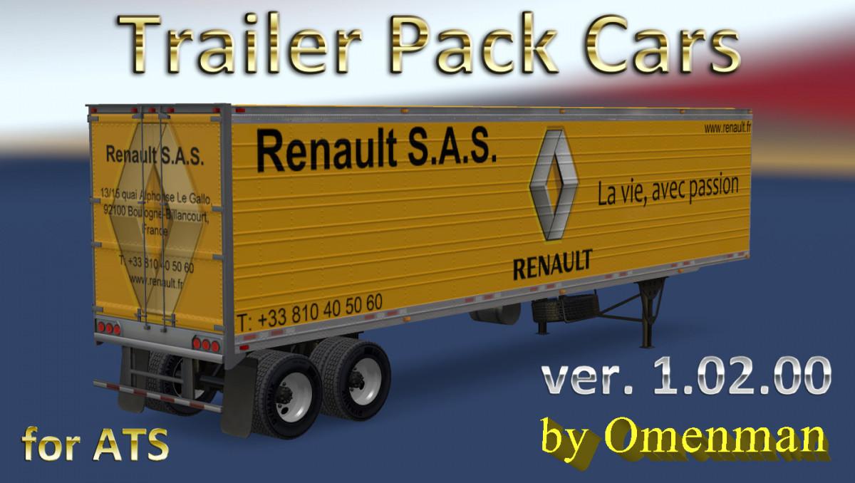 Trailer Pack Cars v 1.02.00 for ATS | American Truck Simulator mods