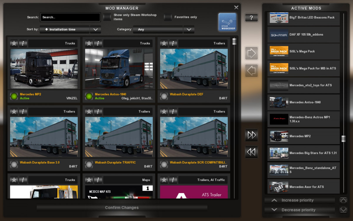 Mercedes Trucks Mega Pack For Ats 1 31 American Truck Simulator Mods