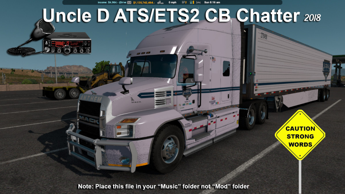 2018 Uncle D CB Chatter | American Truck Simulator mods