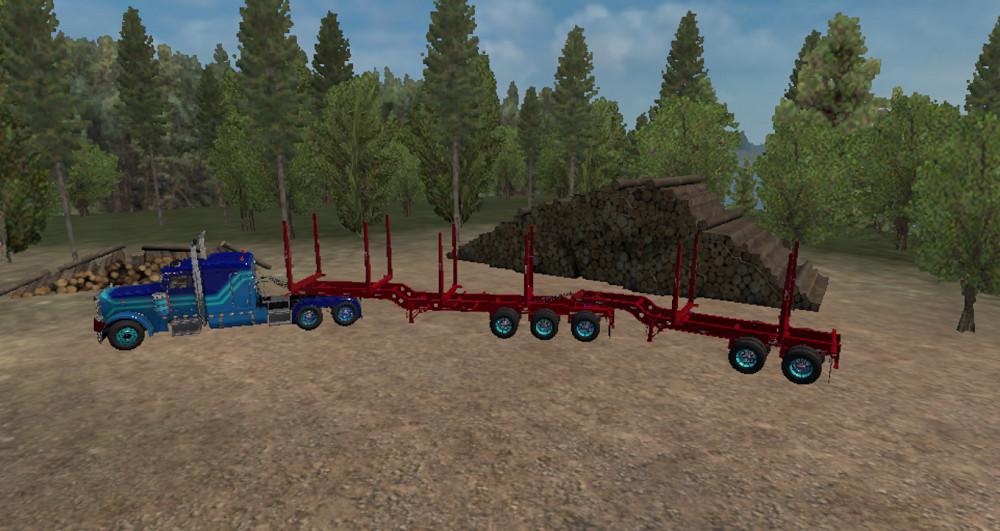 Ownable Arctic Logging Trailer (1 32 x) | American Truck Simulator mods