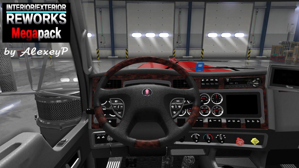 Interior/Exterior Reworks Mega Pack v 1 7 1 | American Truck