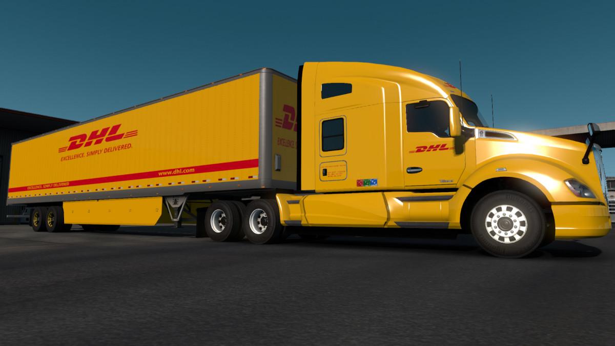 American Express Usa >> DHL Worldwide Express Skin | American Truck Simulator mods