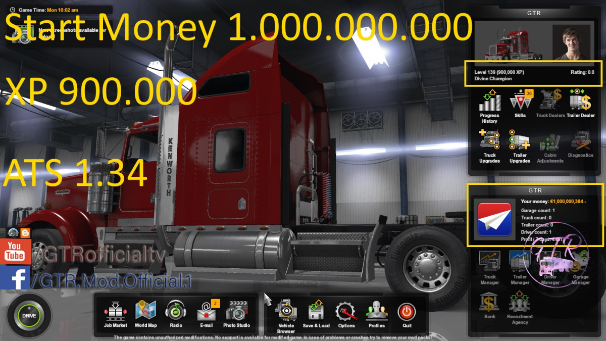 money | American Truck Simulator mods