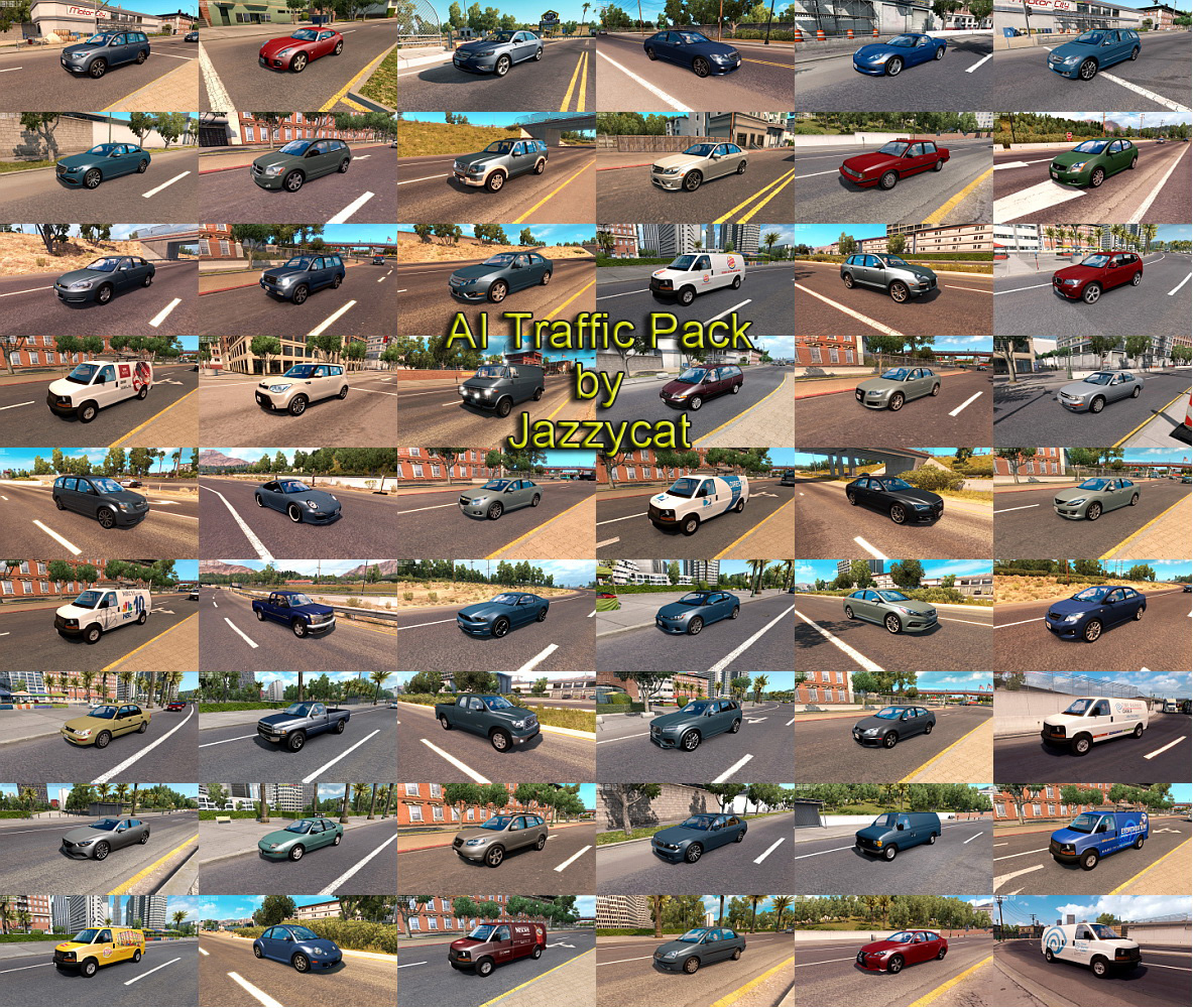 AI Traffic Pack by Jazzycat v 6 3 | American Truck Simulator