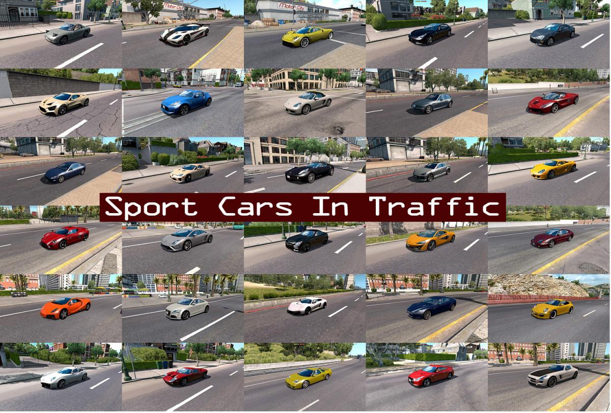 Sport Cars Traffic Pack by TrafficManiac v 3 7 | American