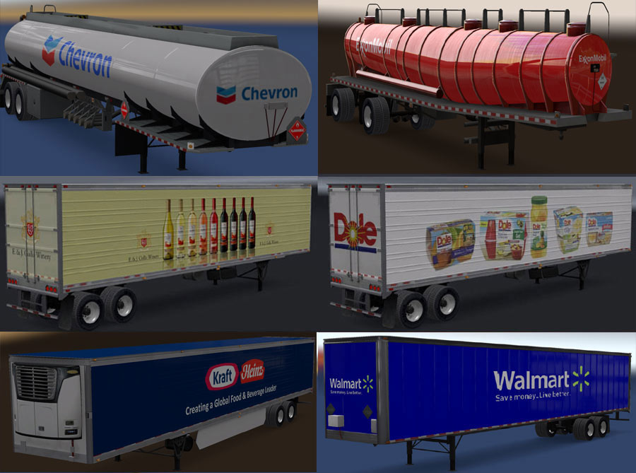 Real Companies & Trailers Pack v 1 7   American Truck
