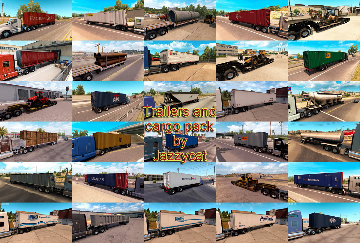 Trailers and Cargo Pack by Jazzycat v 2 3 1 | American Truck