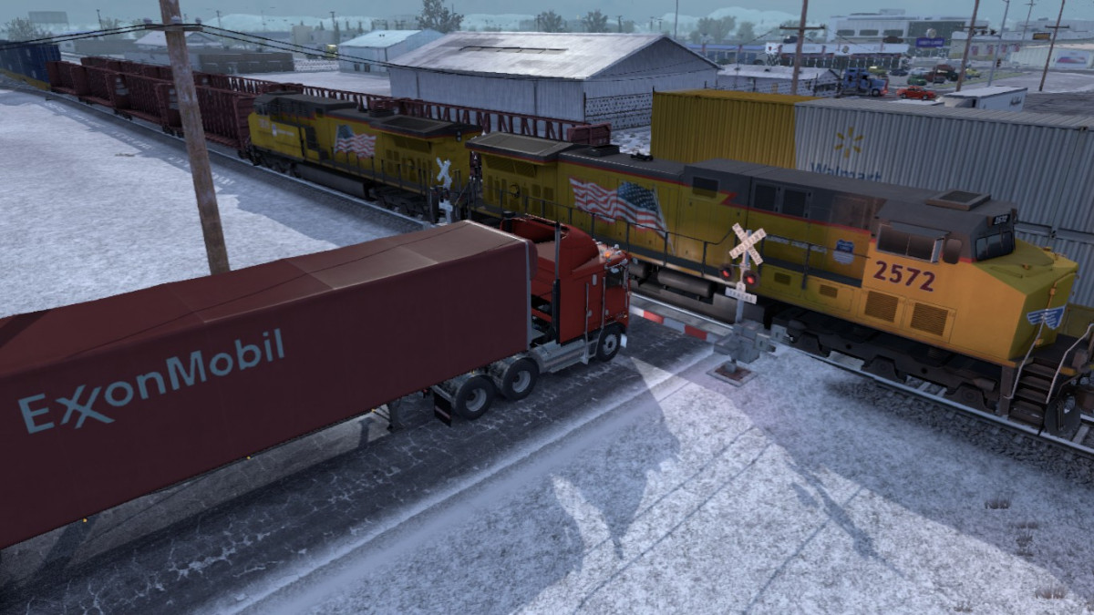 Improved Trains v 3 2 for ATS (v1 35x) | American Truck Simulator mods