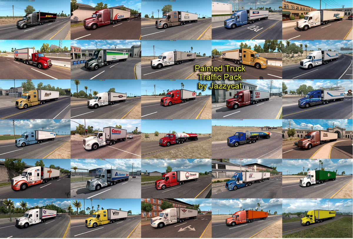 Truck Traffic Pack by Jazzycat | American Truck Simulator mods