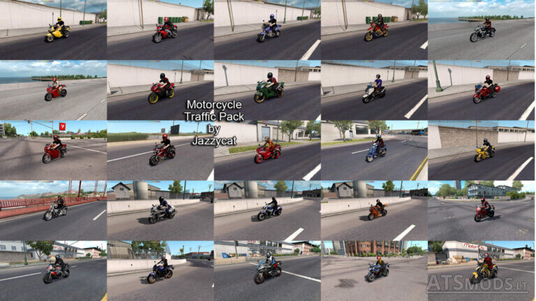 Motorcycle Traffic Pack v3.0 by Jazzycat (1.35.x) for ATS
